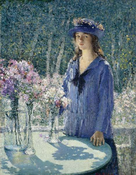 The Flower Girl, 1920 (oil on canvas)