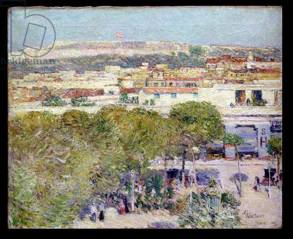 Place Centrale and Fort Cabanas, Havana, 1895 (oil on canvas)