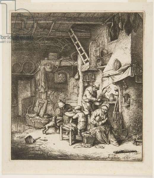 Peasant Family, 1647 (etching & engraving)
