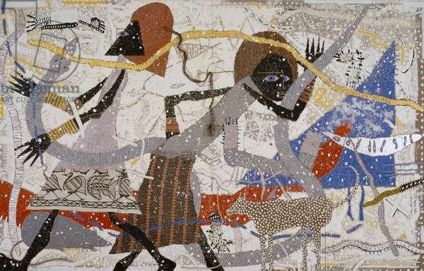 Noah's Ark: Genesis, 1984 (oil and mixed media on masonite)