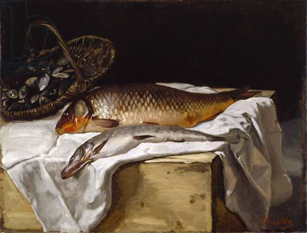 Still Life with Fish, 1866 (oil on canvas)