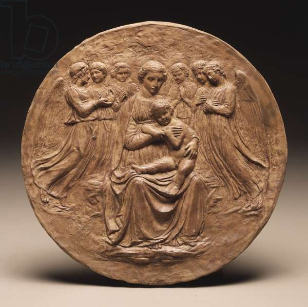 Madonna and Child with Six Angels, c.1860 (terracotta)