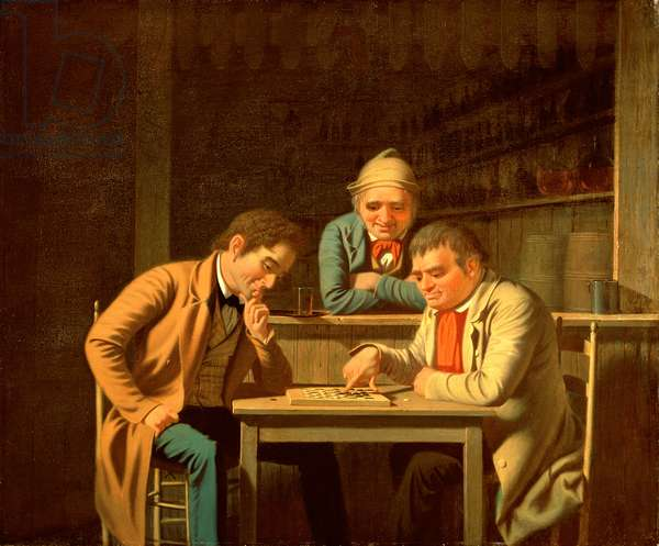 The Checker Players, 1850 (oil on canvas)