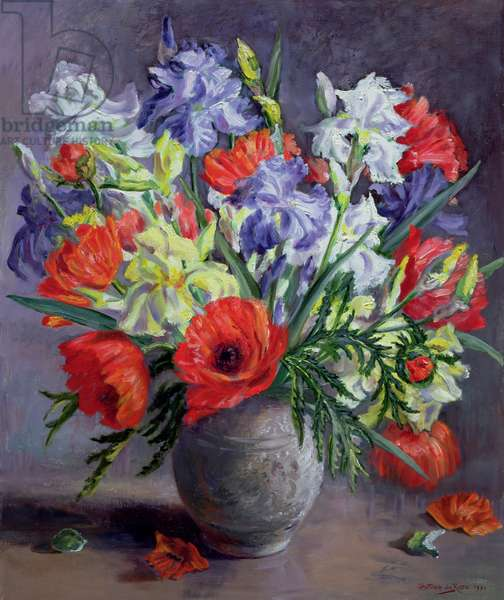 Poppies and Irises, 1991