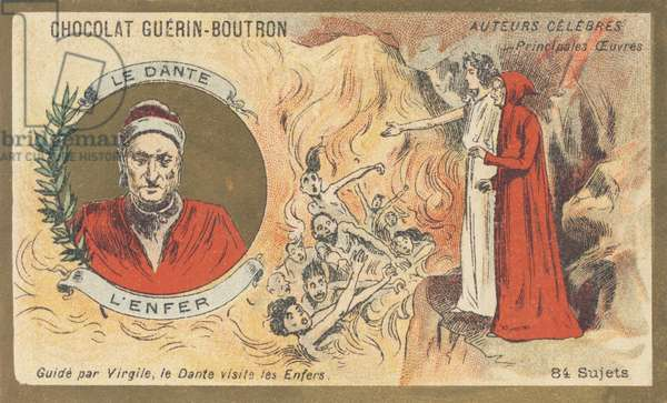 """Dante Alighieri, known as """"Dante"""" (1265-1321), Florentine poet, writer, thinker and politician, author of """"Hell"""""""