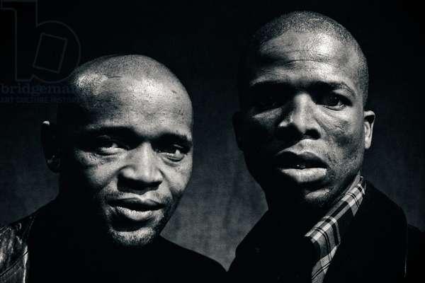 John Kani and Winston Ntshona, 1974 (b/w photo)