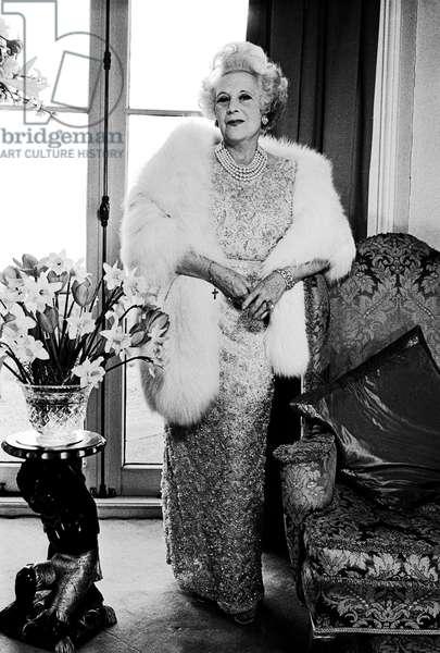 Barbara Cartland, 1970 (b/w photo)