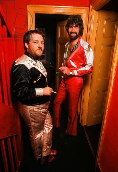 Tommy Roberts 'Mr. Freedom' and his business partner, John Paul, 1971 (photo)