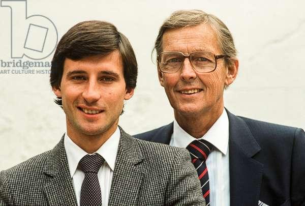 Seb and Peter Coe, 1983 (photo)