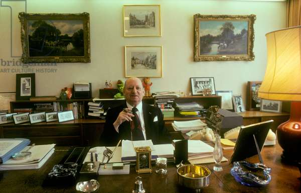 Sir Lew Grade in his office (photo)