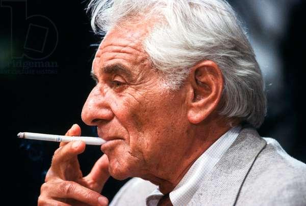 Leonard Bernstein, 1986 (photo)