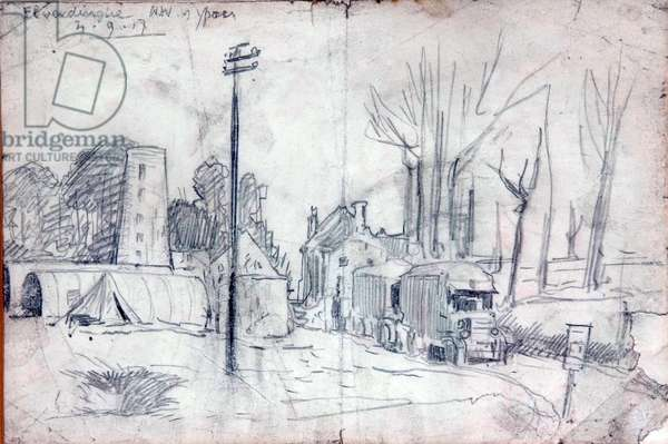 First World War drawing, 1917 (pencil on paper)