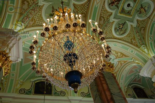Chandelier and Ceiling (photo)