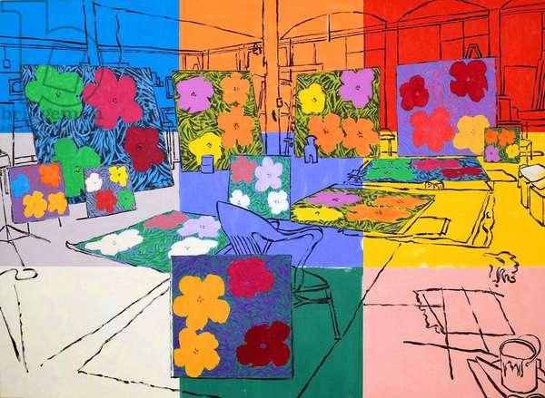 Warhol's Factory (New York City, 1964) 2004 (acrylic on canvas)