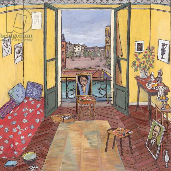 Matisse's Studio (Paris, 1916) 2006 (gouache on board)