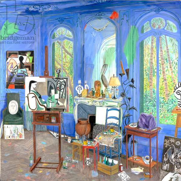 Picasso's Studio (Cannes, 1955) 2016 (acrylic on canvas)