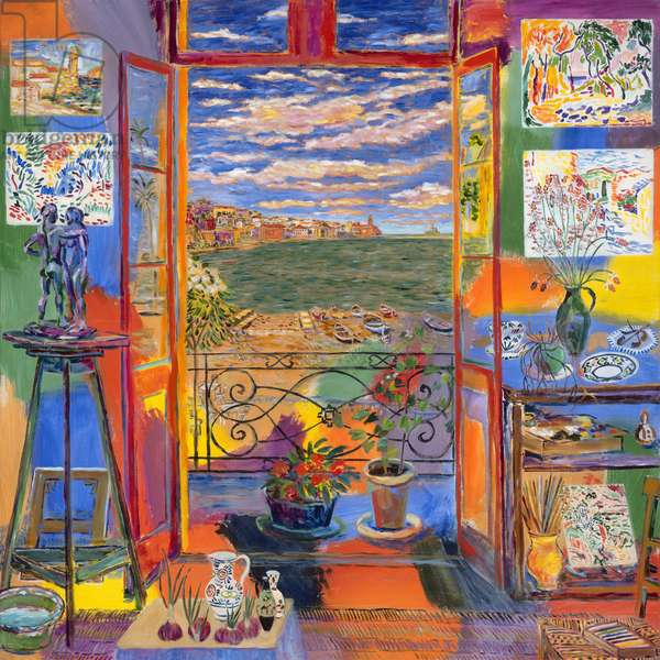 Matisse's Studio (Collioure, 1905) 2015 (mixed media on canvas)