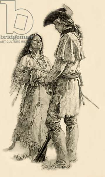 Sacajawea & Clark (sketch)