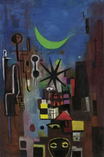 Street at Night, 1950 (oil on canvas)