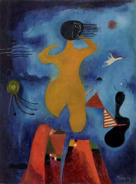 Figure by the Sea, c.1950-55 (oil on hardboard)