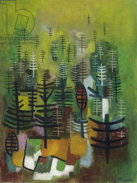 Young Forest Plantation, c.1955 (oil on hardboard)