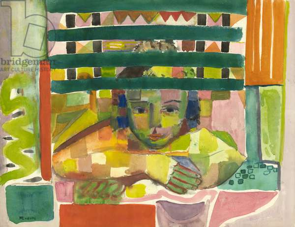 Portrait of a Child, 1955-60 (w/c on paper)