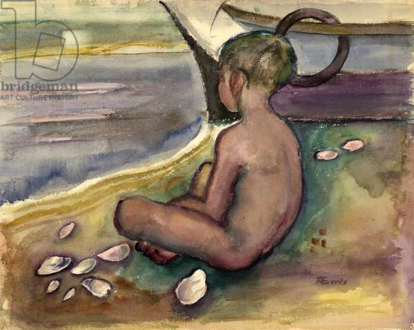 Child with Sea Shells, 1955-60 (w/c on paper)