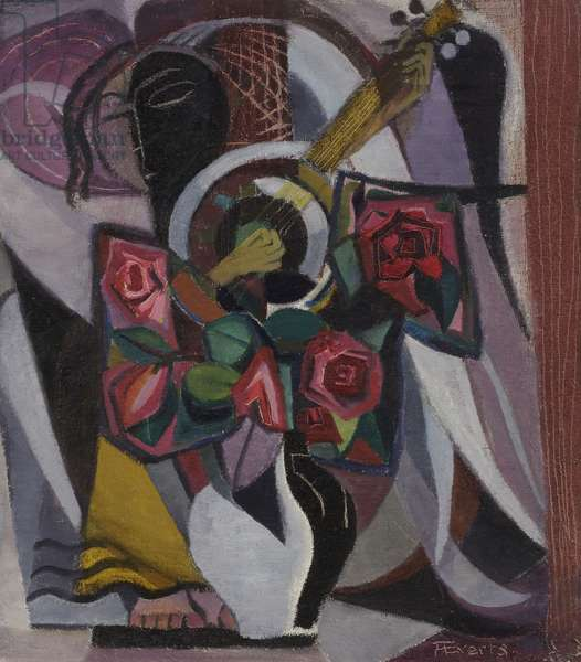 Untitled, c.1945-50 (oil on hardboard)