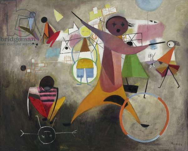 Spring Games, c. 1950-55 (oil on hardboard)