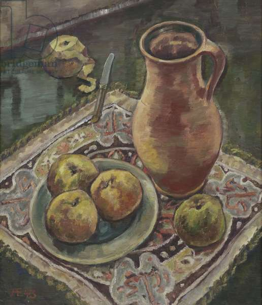 Still life with Jug, 1943 (oil on hardboard)