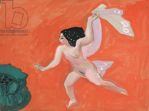 Salome's last veil, c. 1990 (gouache on board)