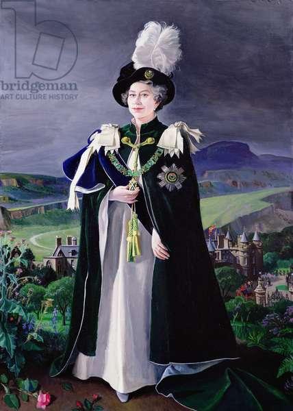 Her Majesty Queen Elizabeth II, 1993 (oil on canvas)