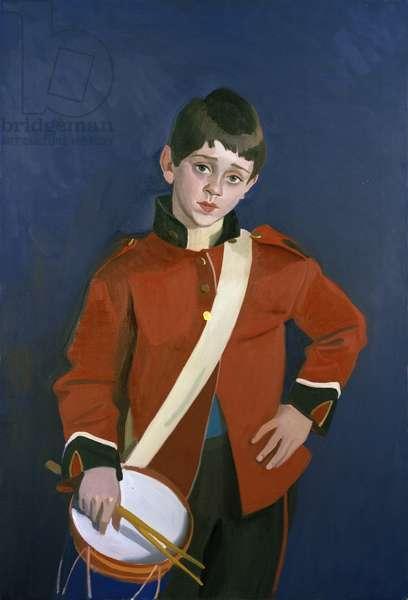 Drummer boy, c.1985 (oil on canvas)