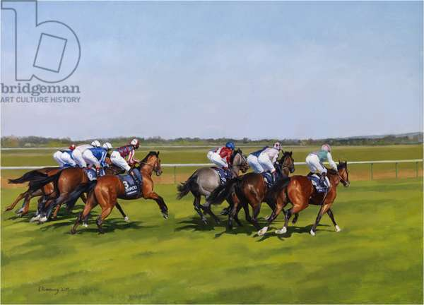 Frankel, 2000 Guineas, 2011 (oil on canvas)