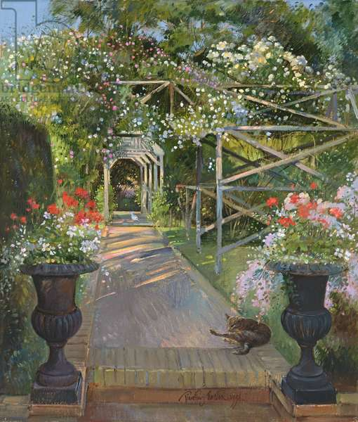 The Rose Trellis, Bedfield, 1996 (oil on canvas)