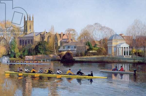 Winter Training at Hampton (oil on canvas)