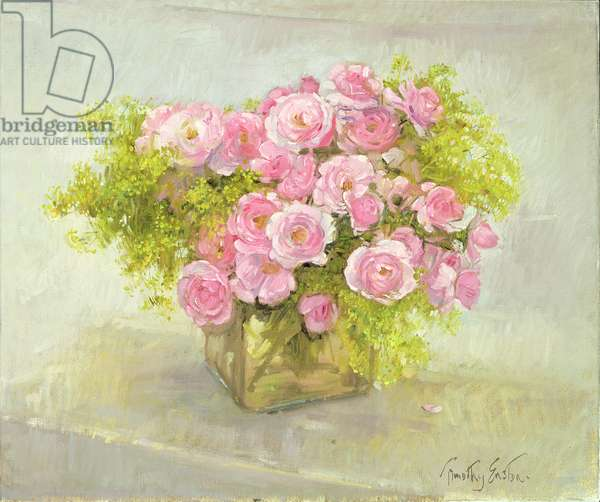 Alchemilla and Roses, 1999 (oil on canvas)