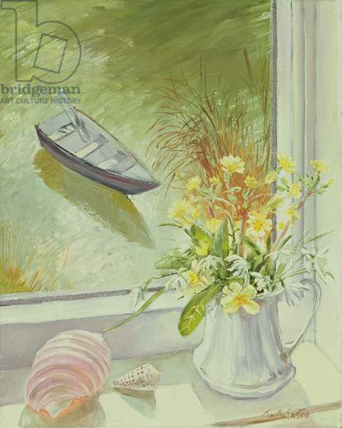 First Flowers and Shells (oil on canvas)