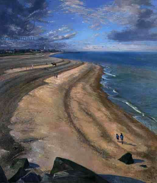 Serpentine Beach at Southwold (oil on canvas)