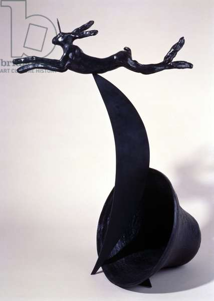 Unihare on Crescent and Bell, 1995 (bronze)