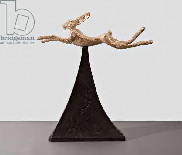 Moon Gold Hare, 2008 (bronze)