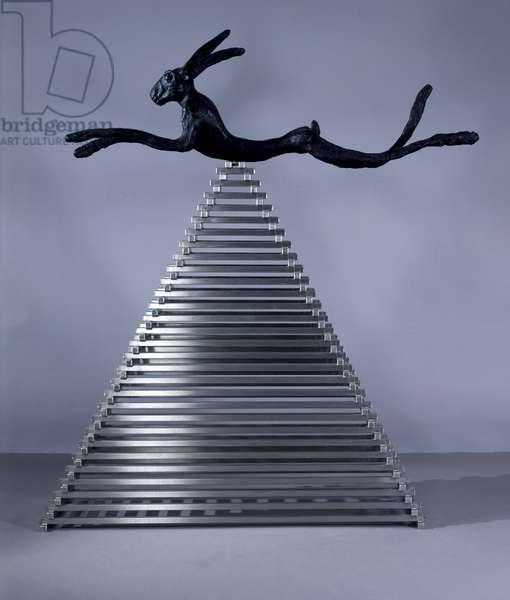 Hells Bells, 2005 (bronze and steel)