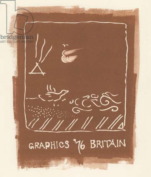 Graphics '76 Britain, 1976 (linocut)