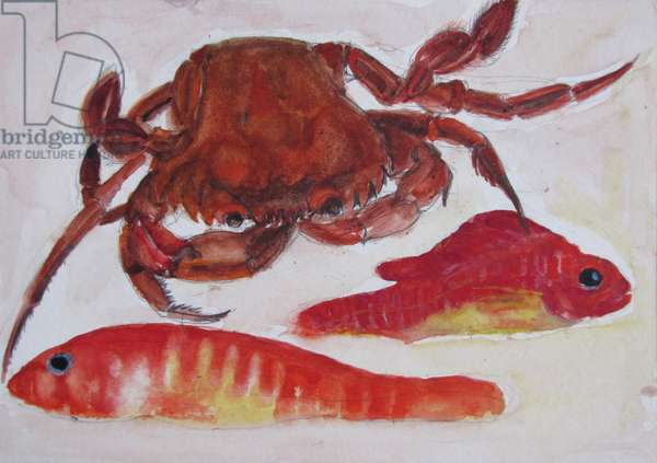 Crab - Two Fishes - Sugar Sweets (w/c on paper)