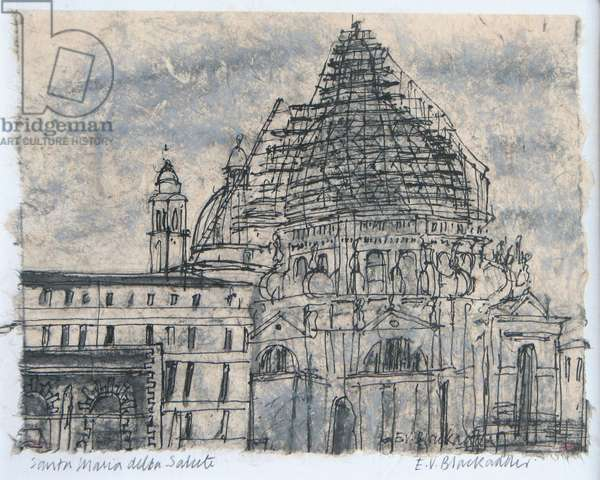 Santa Maria della Salute (pen & ink and chalk on paper)