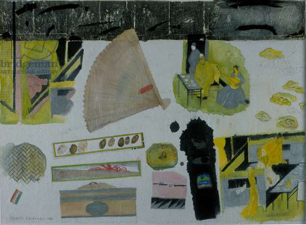 Still Life, Chinese Tea Room, 1996 (w/c on paper)
