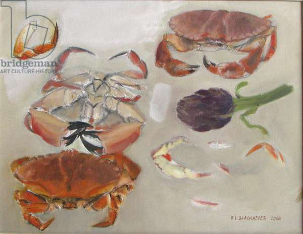 Crabs and Artichoke, 2006 (oil on canvas)