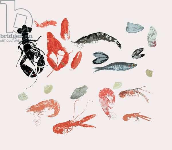 Seafood Medley (screenprint)
