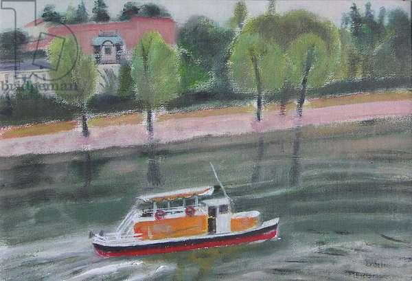 Riverboat, Prague I, 2004 (oil on canvas)