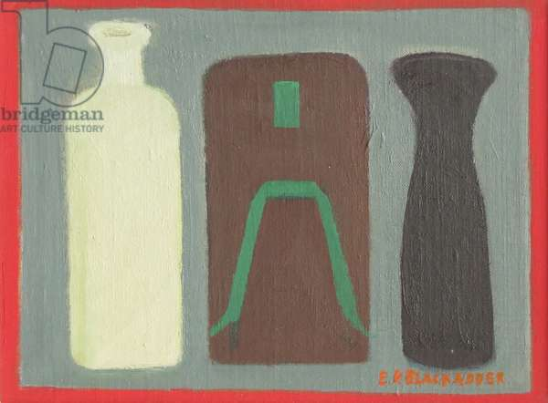 Still Life with Bottles (oil on canvas)